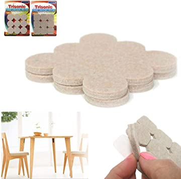 Amazon Com 18 Self Adhesive Felt Floor Protectors Round Beige Pads Furniture Chair Scratch Office Products