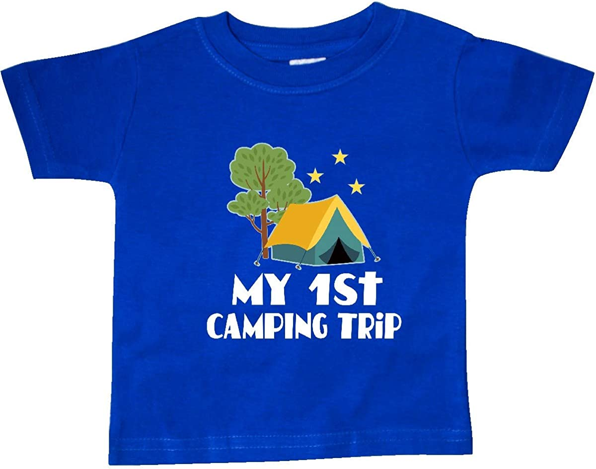 inktastic My 1st Camping Trip Baby T-Shirt