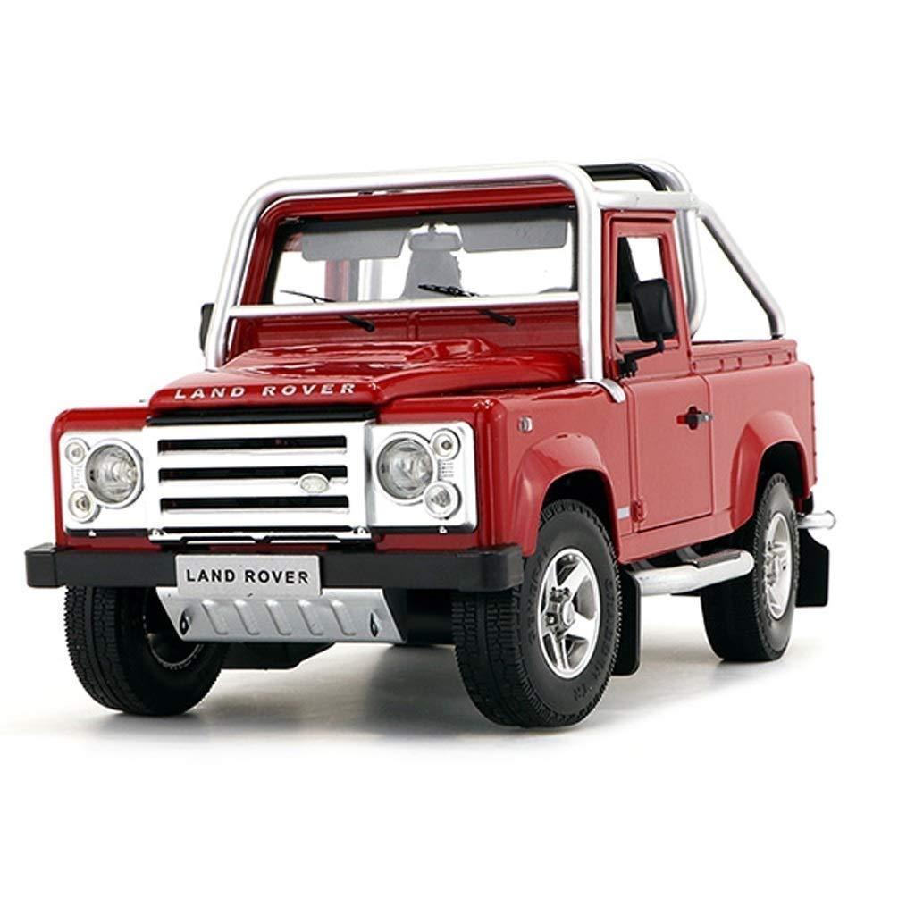 Auto Modello Modello Auto Land Rover Land Rover Defender SVX Rapporto in Scala 1 18 Modello Die Casting Modello in Lega Modello Decorazione Regalo Gioielli (colore   Rosso)