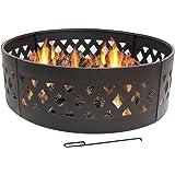 Heavy Duty Crossweave Campfire Ring, 36 Inch by Sunnydaze