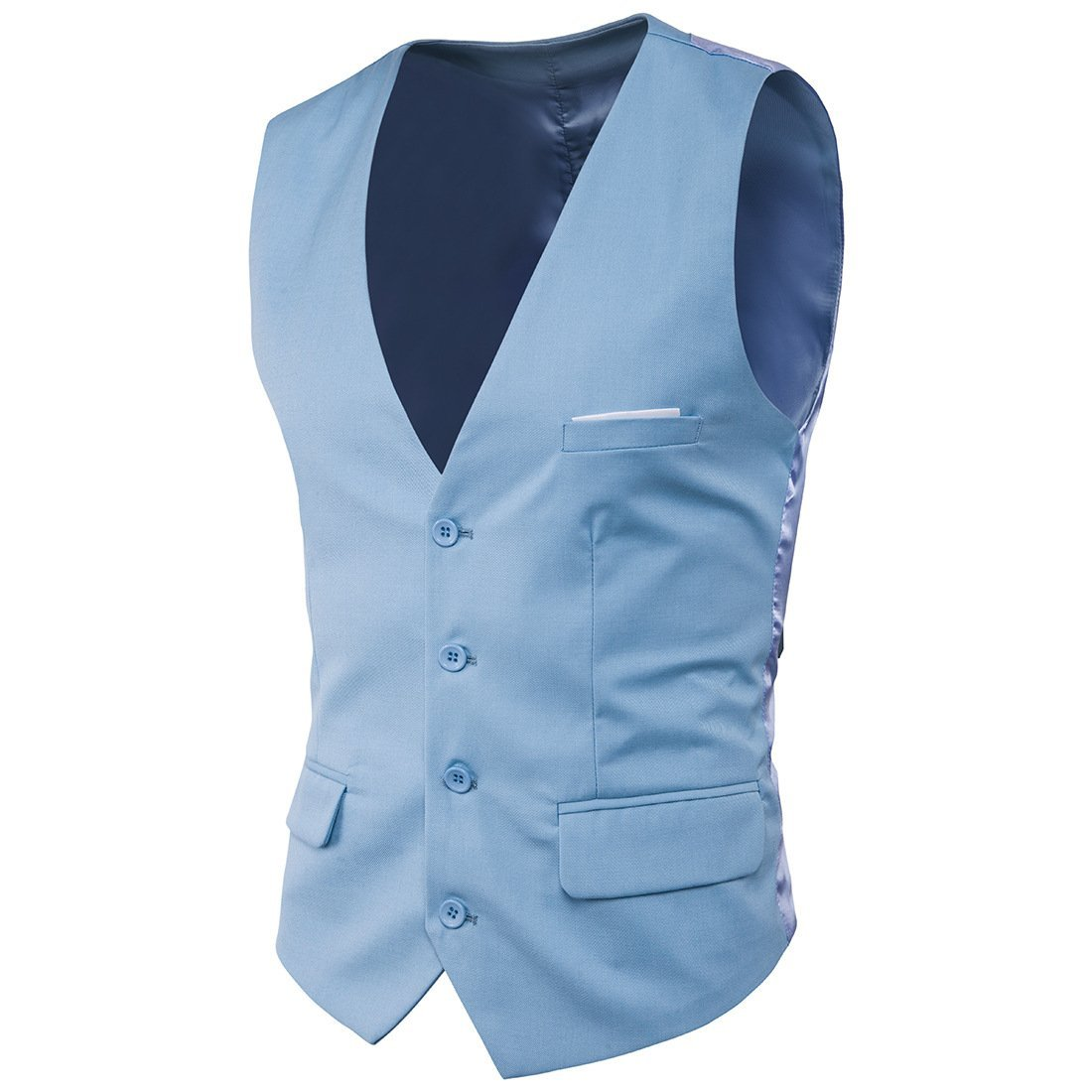 Juleya Single-Breasted Man Vest Slim V-Neck Suit Vest Male Puls Size Solid Colors Suit Vest Men B180618MW6-J