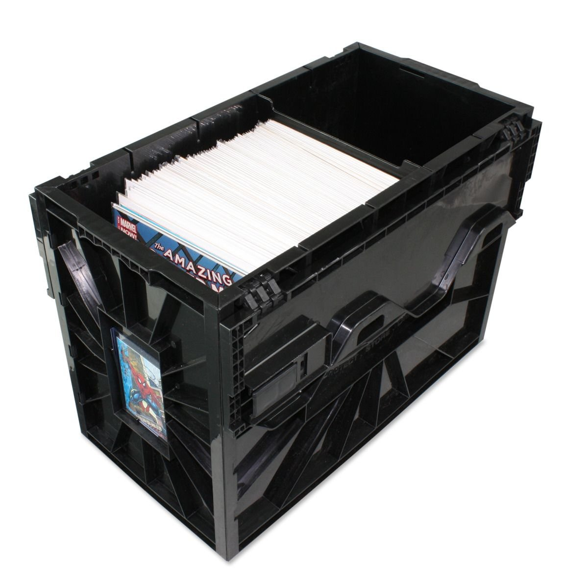 Short Comic BIN - Plastic - Black BCW Supplies