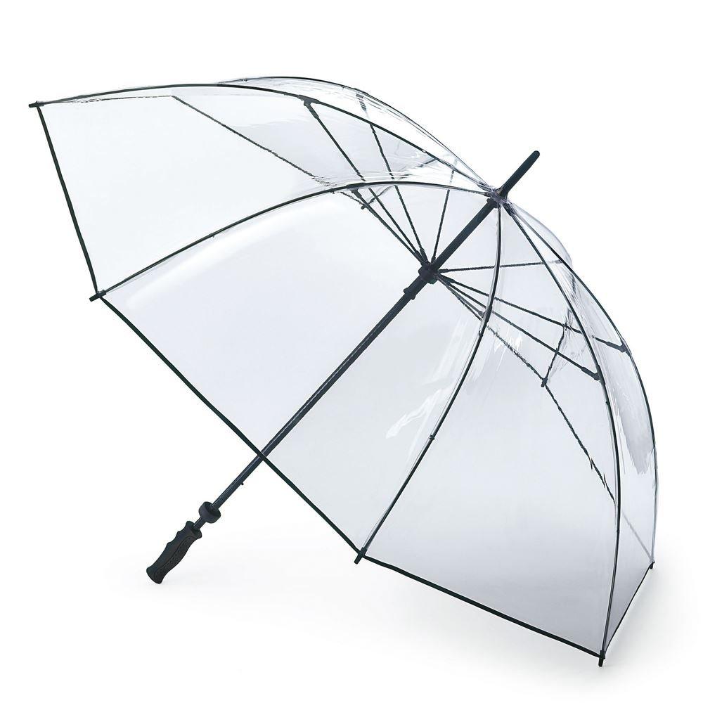 Fulton Clearview extra grande con dosel paraguas de golf clara: Amazon.es: Jardín