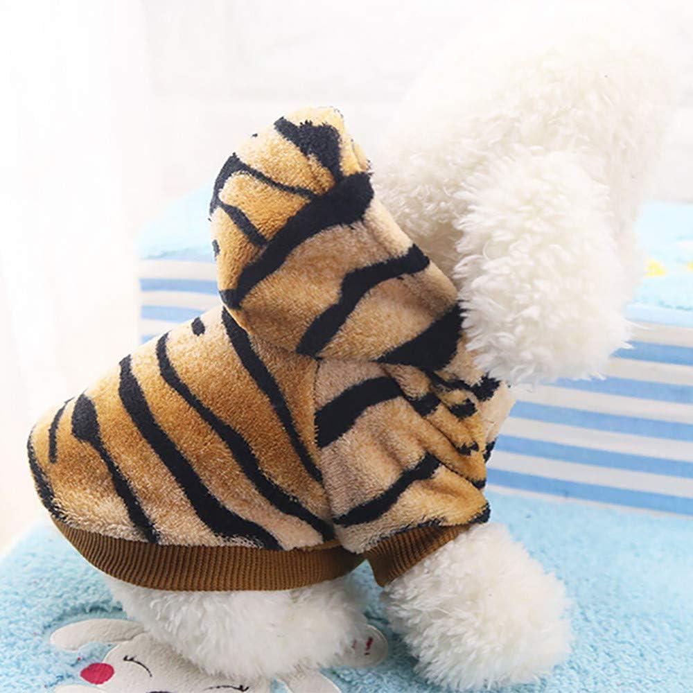 Waselia Haustier Winter Hundemantel Kleidung Hundekatzen Tiger Mantel Hunde Kleine Hunde Katze Hoodie Hundepullover Winter Strickpullover