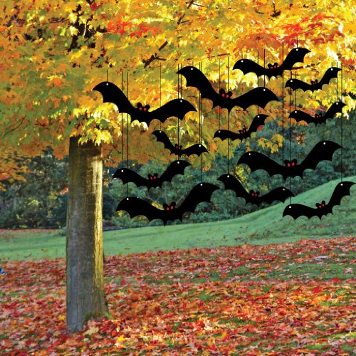 1 x halloween yard decoration scary hanging bats - Halloween Garden Decor