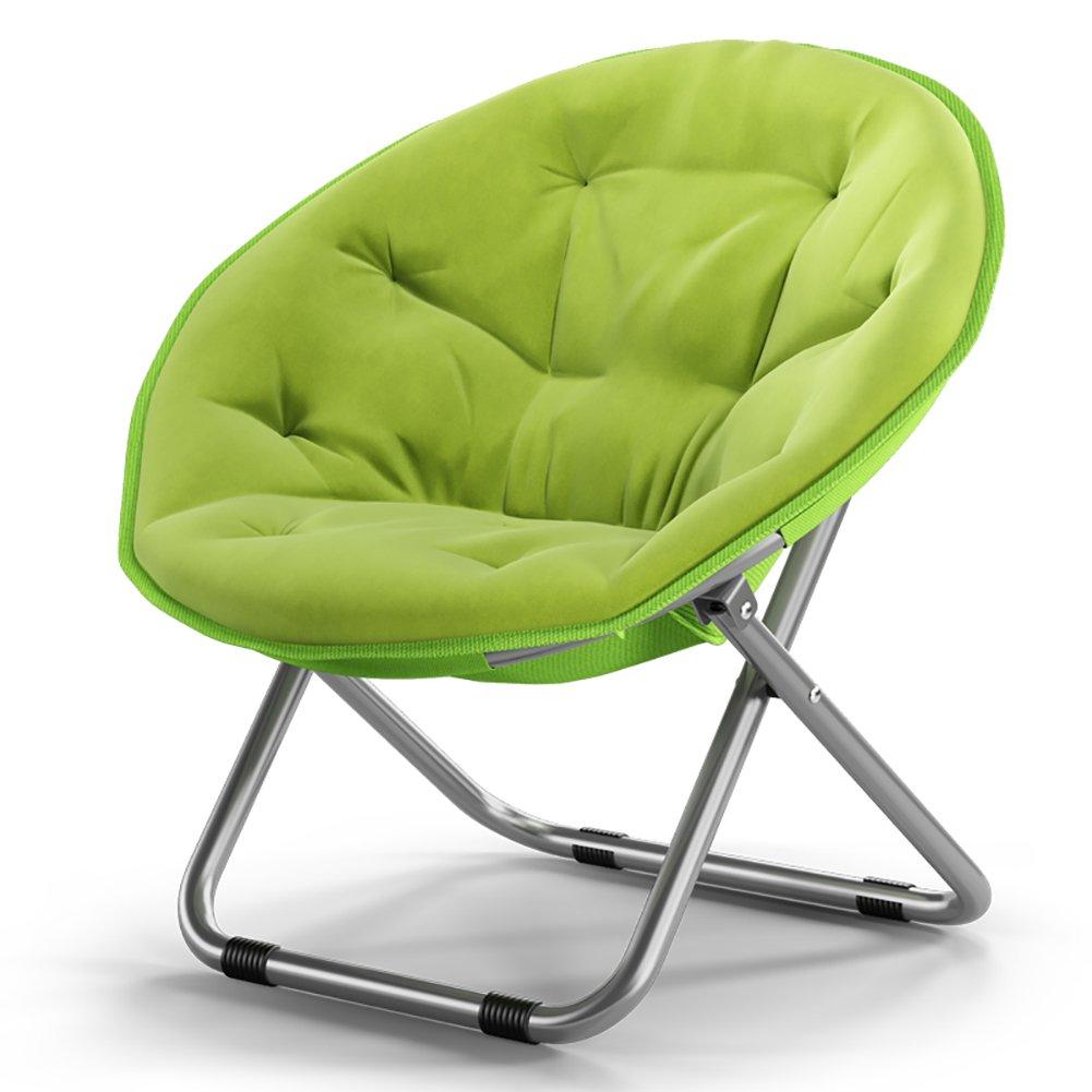 大きなラウンドチェアソファーチェアラウンジチェアアダルトムーンチェアサンラウンジラージチェアレーダーチェア折りたたみチェア (色 : Fruit green) B07DNM2KWQ Fruit green Fruit green