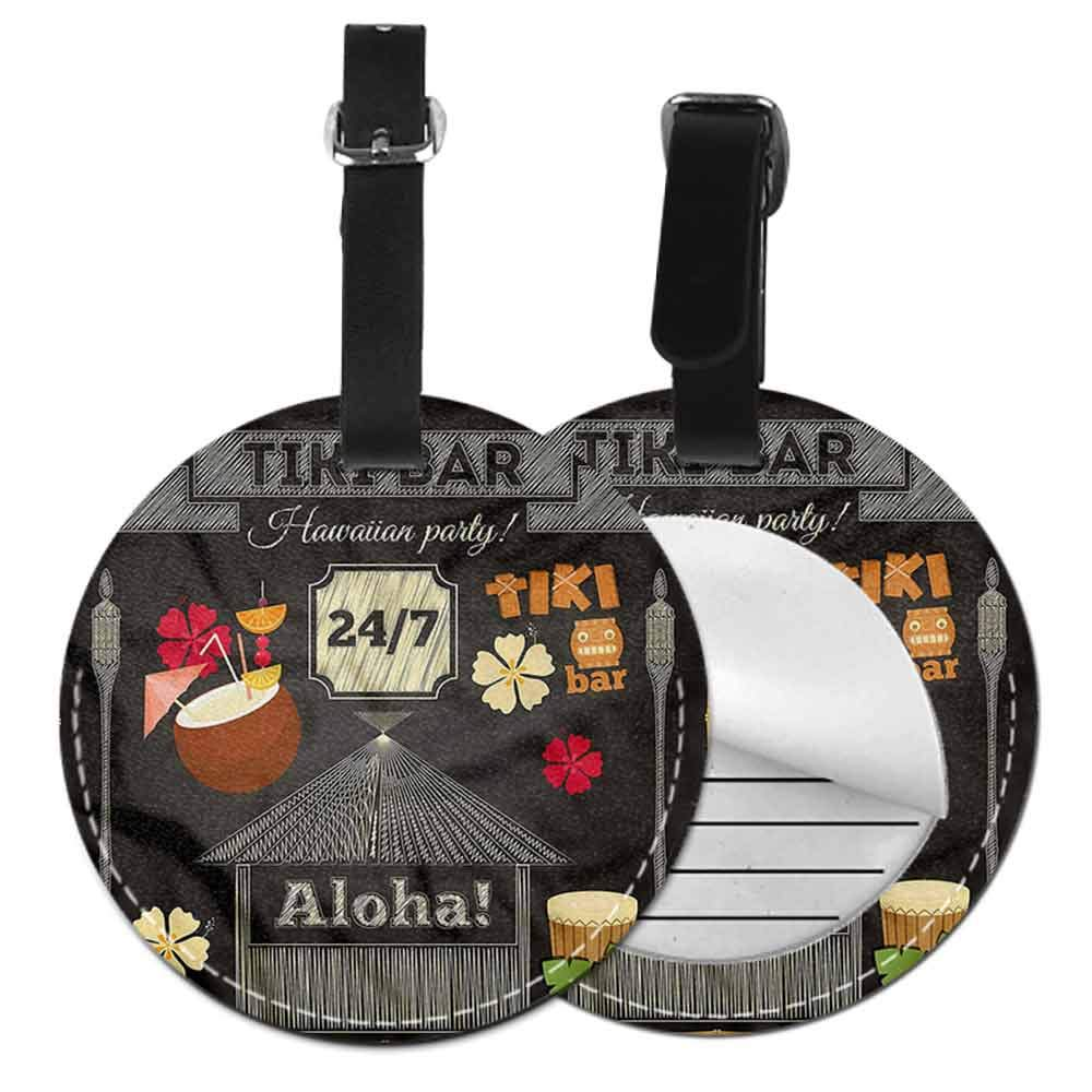 Suitcase Labels Bag Hawaii,Traditional Tiki Bar Id Tag Suitcase Carry