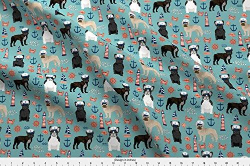 french bulldog fleece fabric - 7