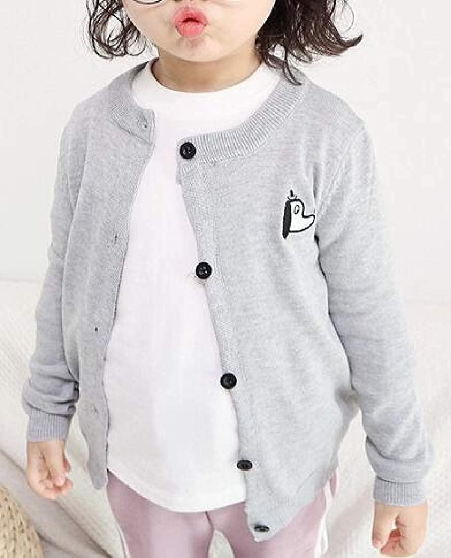 Cromoncent Little Kids Girls Winter Knit Long Sleeve O-Neck Splice Pullover Sweaters