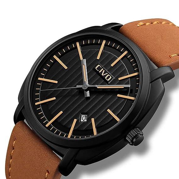 GHGJSKH Relojes Relojes Deportivos para Hombres Diseño Simple Impermeable Relojes Deportivos Militares Calendario analógico Fecha Reloj de Pulsera de Cuarzo ...