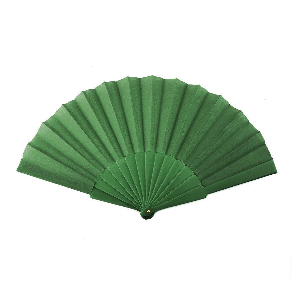 Aspire Plastic Spanish Folding Fans, Performance Folding Fan / Dancing Fan, Party Decoration - Green,10 Dozens by Aspire