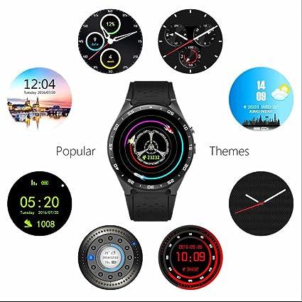 Reloj Inteligente con Pulsómetro Teléfonos Inteligentes Reloj con Llamada SMS Recordatorio Podómetro Monitor de Sueño el