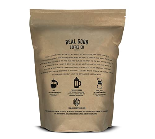 Real Good Coffee Company Breakfast Blend Light Roast Whole Bean Coffee