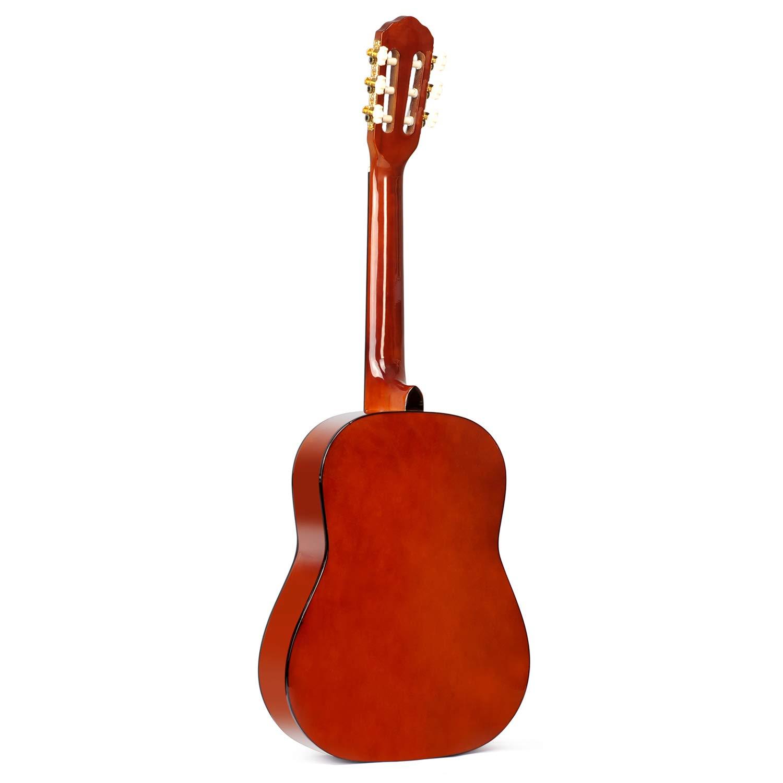 Winzz Guitarra Cl/ásica Cuerda de Nylon 1//2 Tama/ño 34/'/' Kit de Inicio para Estudiantes Principiantes con Bolsa Afinador Cuerdas Adicionales y Pa/ño de Pulido
