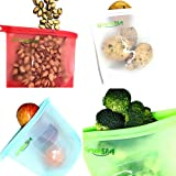GreenSil Reusable Food Bags | Eco Friendly Silicone Food Bag with Airtight Seal, Versatile for Preservation, Freezing and Cooking of Meat, Vegetable and Fruit 1000ml (4pcs)