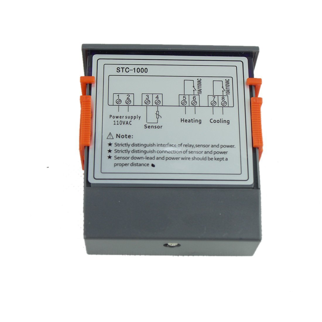 Lerway 110v All Purpose Temperature Control Controller Based Dual Power And Measurement Circuit With Sensor 2 Relay Output Thermostat Stc 1000 Home Improvement
