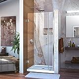 DreamLine Unidoor 36-37 in. Width, Frameless Hinged Shower Door, 3/8'' Glass, Chrome Finish