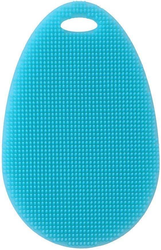HAODEE Cepillo de Esponja para Fregar Platos de Silicona Multiusos para Lavar Platos Limpiador Multifuncional de Frutas/Limpiador de Vegetales/Alfombrilla Resistente al Calor/Guantes Bikcolor