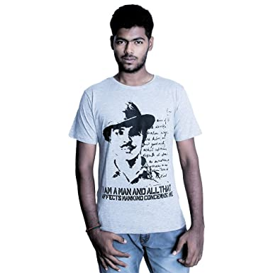 c1c912861 Bhagat Singh Melange T-Shirt-2XL: Amazon.in: Clothing & Accessories