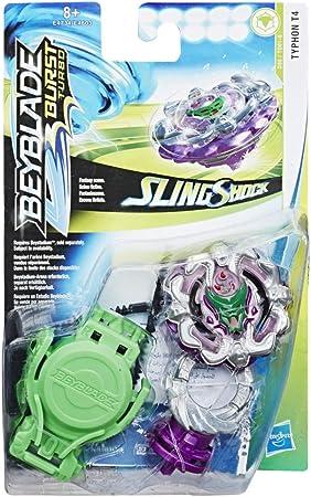 Cada paquete de iniciación de este surtido incluye una peonza Beyblade Burst Turbo Slingshock y lanz