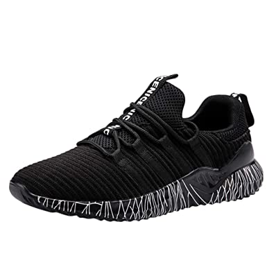 e3ce0be900b7 Hanomes Mens Women s Solid Mesh Basketball Sport Running Sport Round Toe  Lace-up Thick Bottom