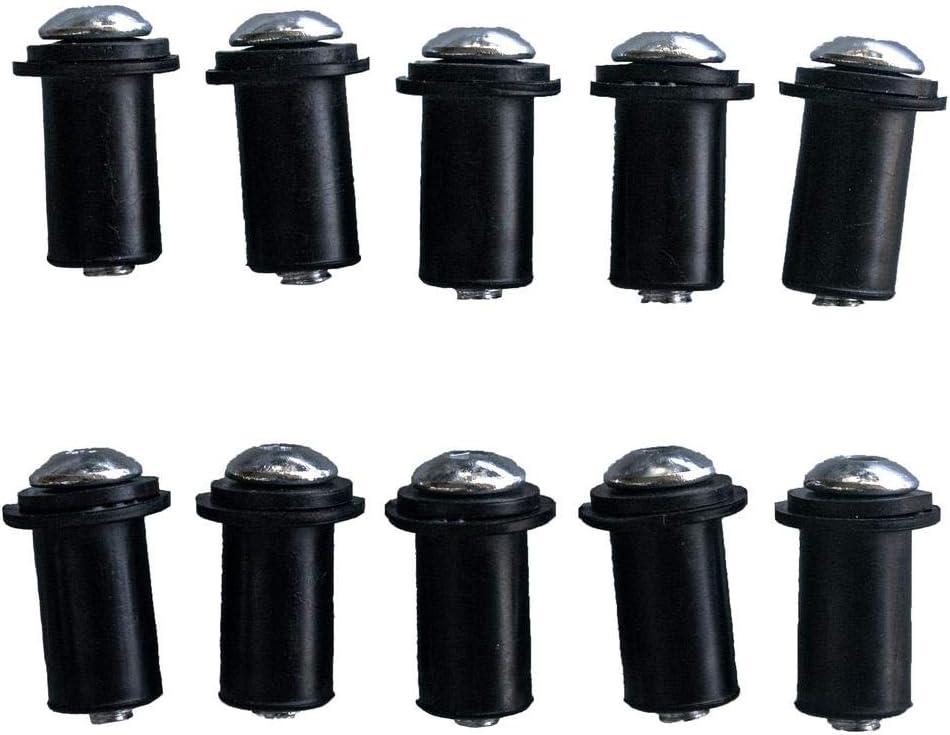 20mm Black M5 x 0.79in NEX Performance 10pcs Aluminum Screen Bolt Kit