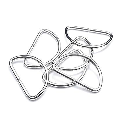 Amazon Com 50 Pack 1 12 Dee Rings D Ring Metal Buckle Strap