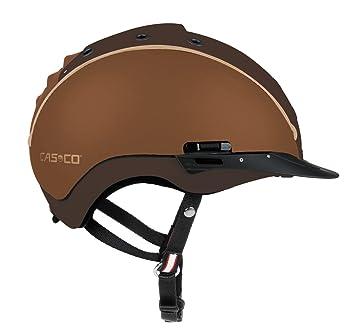 Casco Mistrall 2 – Casco de equitación con ribete Norma VG1 intercambiable, color marrón Talla