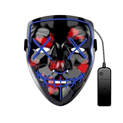 WUYEA Máscara Que Brilla Intensamente Terror De Halloween ...