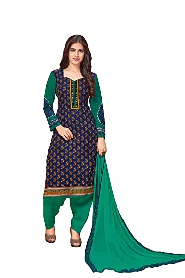 c265eb8626 PADMiNi Unstitched Printed Cotton Dress Materials-Chiffon Dupatta: Amazon.in:  Clothing & Accessories