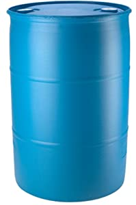 55 Gallon Blue Water Barrel | Solid Mold |2 Inch Bung Holes, Good for Long Term Use