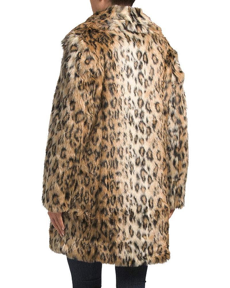c478837d66ec Karen Millen Leopard Print Faux Fur Coat (Medium) at Amazon Women's Coats  Shop
