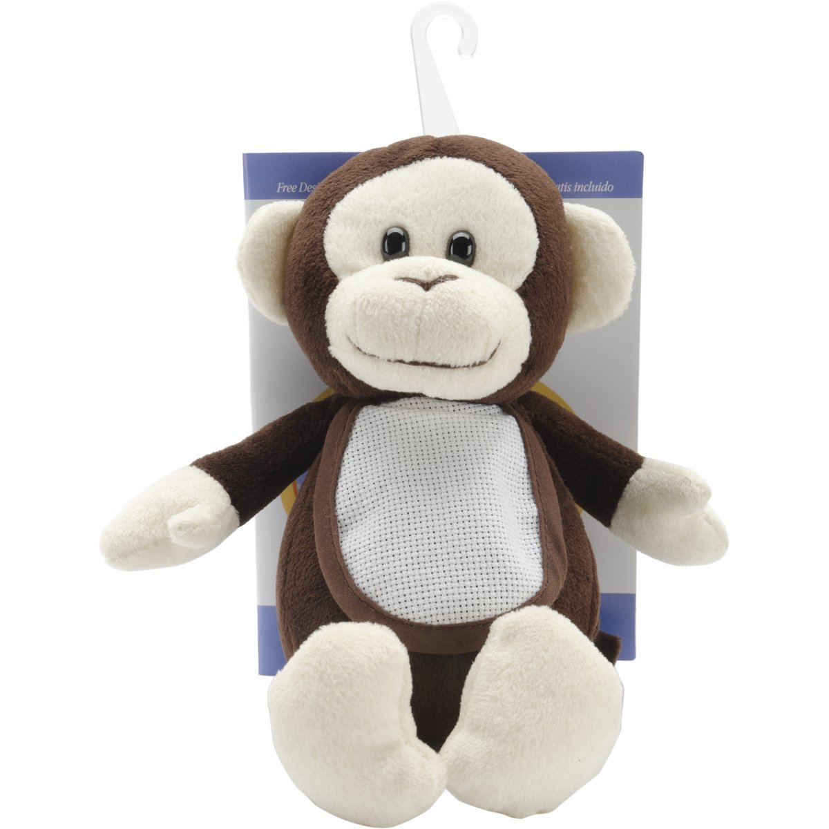 DMC GN-324 Ready to Stitch Stuffed Animal Baby Gift, Monkey Notions - In Network