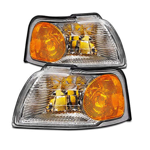 (HEADLIGHTSDEPOT Compatible with Ford Thunderbird/Mercury Cougar New Replacement Park Signal Lights Set)