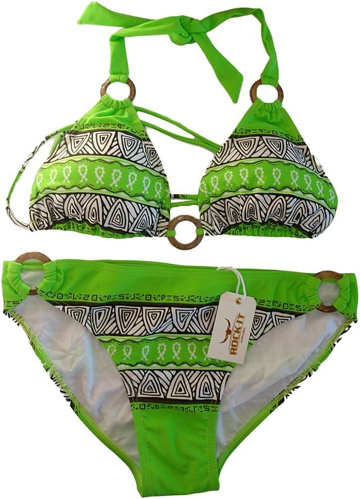 ROCK-IT Apparel/® Triangel Bikini Aztec Original von Rock-IT Damen Push up Zweiteiler Bikini Set mit Bikinioberteil und Bikinihose in den Farben Braun Ocker Rot Wei/ß Gelb Schwarz und Gr/ün