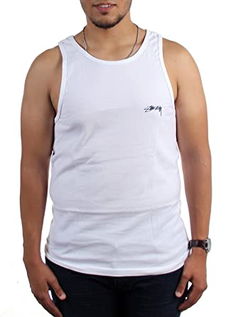 a827373e Stussy - Mens Downtown Tank Top, Size: Small, Color: White