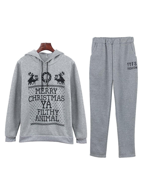 c01c51d3aec633 30%OFF Damen Sportanzug Hausanzug Trainingsanzüge Sweatshirt 2 Stück Set