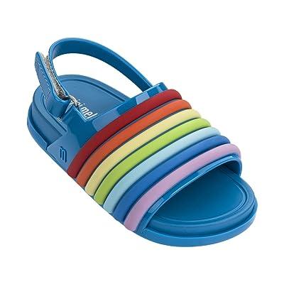 Mini Melissa Kids' Mini Beach Slide Rainbow Flat Sandal
