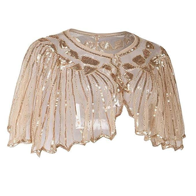 new style df2d9 037fc NIUQY Elegante Sposa Scialle da Donna,Coprispalle Sera ...