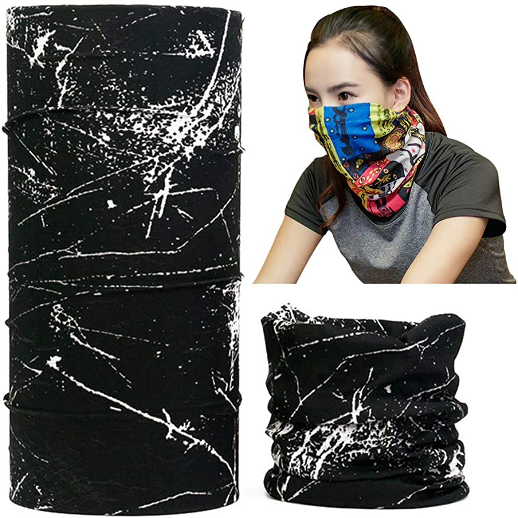 Womens Mens Bandanas Face Masks Seamless Multifunctional Headwear
