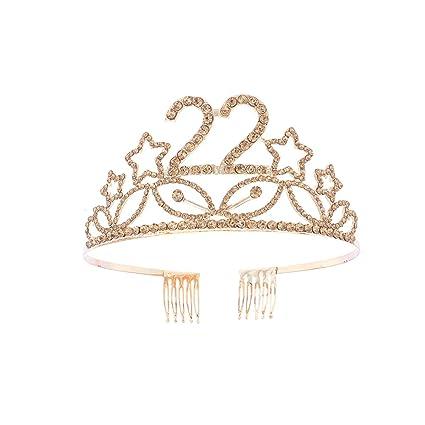 Beaupretty - Corona para cumpleaños de 22 años, corona de ...