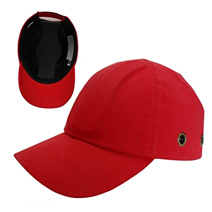 7960f1464 Red Baseball Bump Cap - Lightweight Safety hard hat head protection Cap