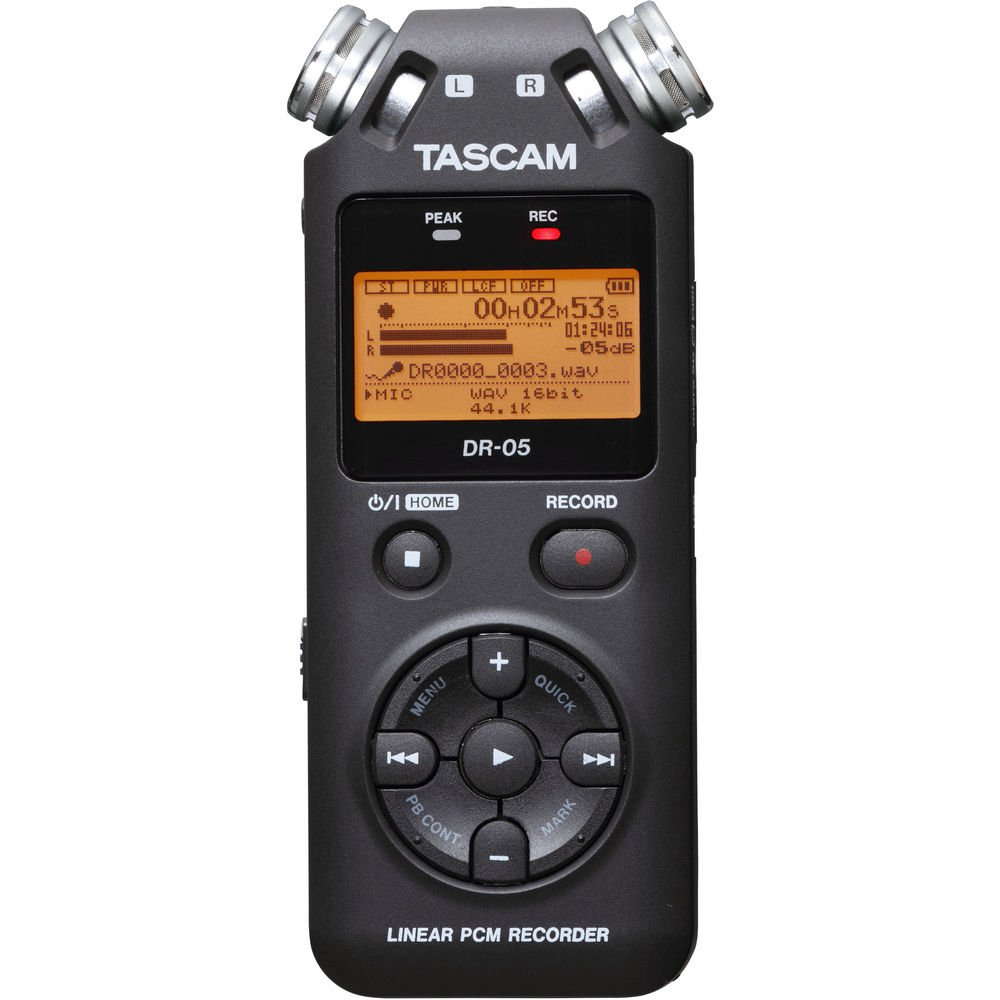 TASCAM DR-05 Portable Digital Recorder Kit with Custom Windbuster and USB Power Adapter and 16GB microSDHC Class 10 Memory Card by Tascam