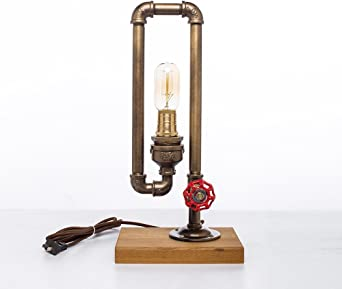 Lámpara de mesa retro agua creativa lámpara de mesa bar cafetería ...
