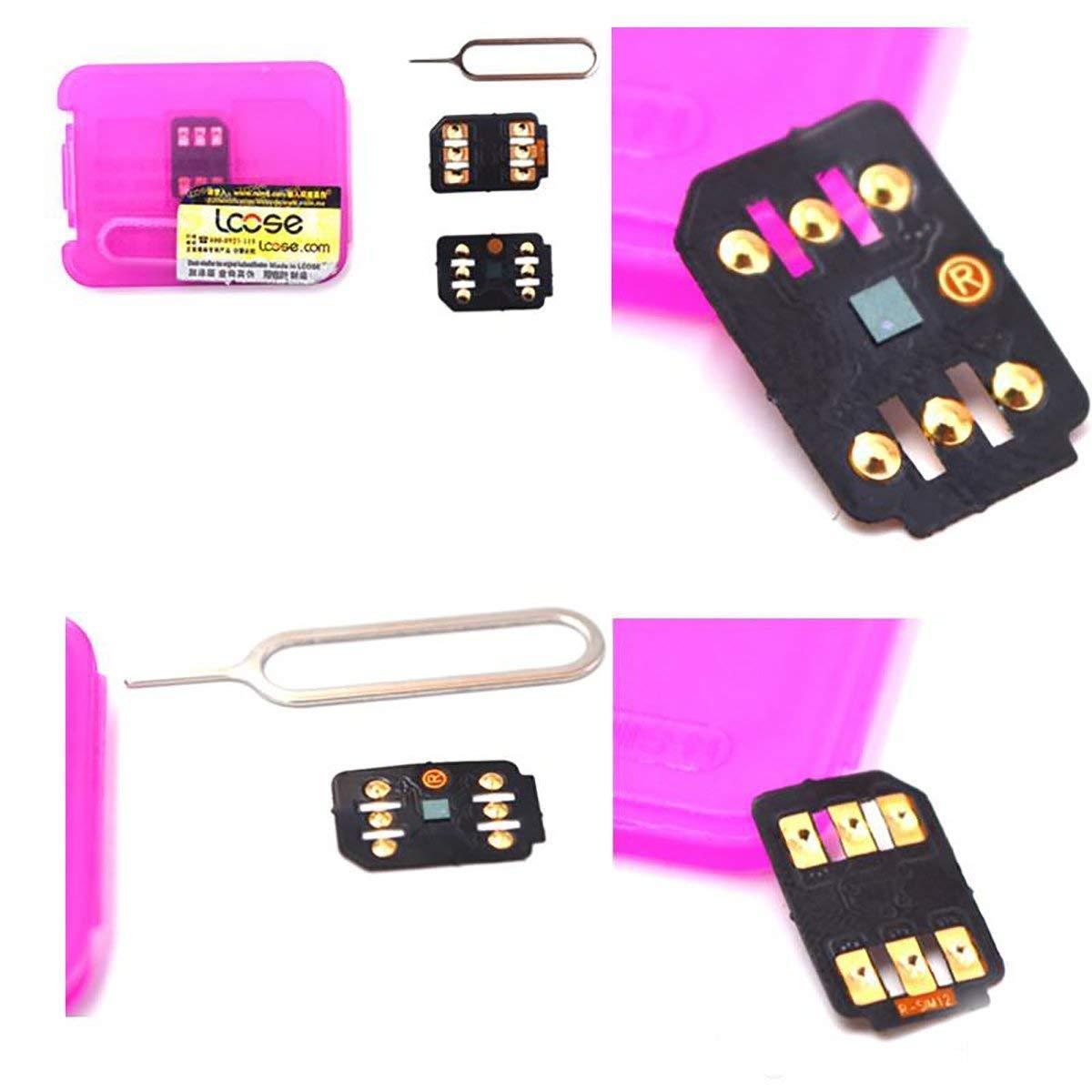 Ghostek R-Sim 12 for iPhone 5-5s-6/6S-7-7plus-8-8plus-x (Black)