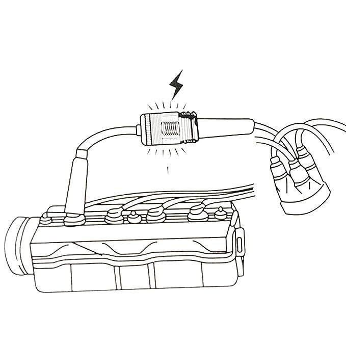 auto-partner infalible Motor comprobador de encendido spark Bujía: Amazon.es: Coche y moto