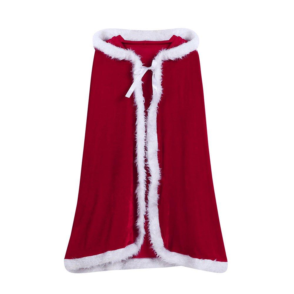 OverDose Baby Kinder Weihnachtskostüm Santa Kapuzen Cosplay Cape Robe Cosplay Kostüme für Jungen Mädchen A-Blau) OverDose baby Oct.31