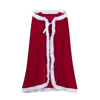 Lookhy - Disfraz de Papá Noel con Capucha para niños, Rojo ...
