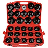 30pcs Cap Type Oil Filter Wrench Set Socket Tools Automotive Removal Kit
