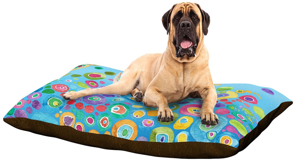 Inner Circle bluee X-Large 40\ Inner Circle bluee X-Large 40\ Kess InHouse Catherine Holcombe Miraculous Recovery  Butterfly Dog Bed, 50 by 60-Inch